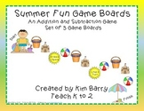 Game Boards - Summer Fun Addition and Subtraction