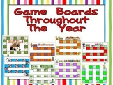 Game Boards Throughout the Year- 62 Game Boards for any grade or subject