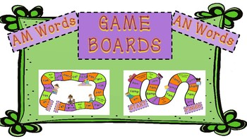Game Boards for AM and AN Words!