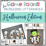 Game Boards for Increasing Utterances - Halloween