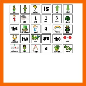 Game Boards for Increasing Utterances - St. Patrick's Day Ed