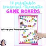 Game Boards for Seasonal Speech Therapy Activities