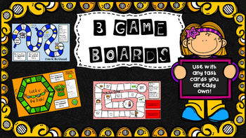 Game Boards to Use With Task Cards