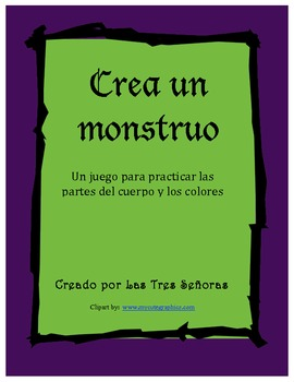 Game Body Parts and Colors/ Crea un monstruo