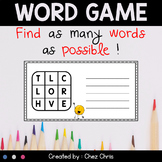 Word Game - Find as Many Words as Possible