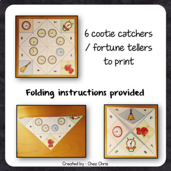 Time cootie catchers / Fortune Teller - Playing with time !