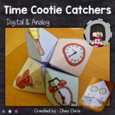 Telling Time to 5 Minutes Cootie Catchers Fortune Teller