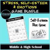 Emotions BINGO, Stress BINGO, Self-Esteem Dice Game
