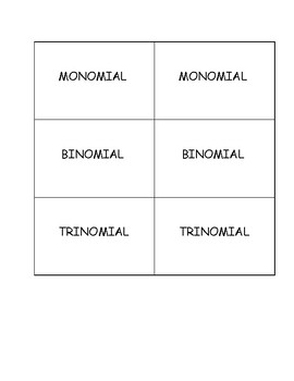 Game Bundle (Monomial, Hold It Up and 4-Quadrant Game)