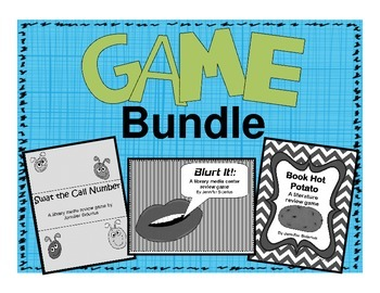 Game Bundle: Three Library Skills Review Games