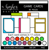 Game Cards Clipart {A Hughes Design}