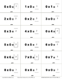 Game Cards MULTIPLICATION