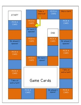 Game Cards for Fluency Strategy Practice