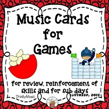 Game Cards for Music (Beans & Ice)