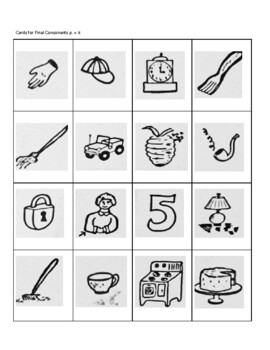 Game Cards for Teaching CVC, Initial, and Final Consonants