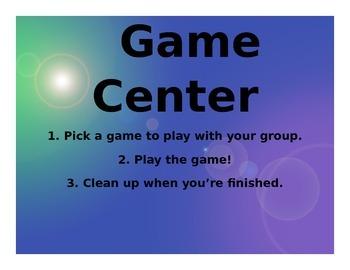 Game Center Poster