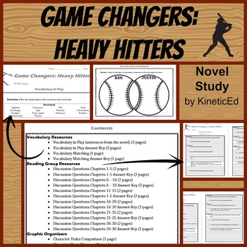 Game Changers: Heavy Hitters Novel Study with AR Quiz
