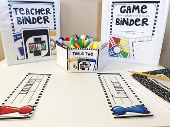 Game Classroom Theme Decor and Organization EDITABLE Kit