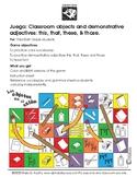 Game: Los Objetos del salón, Classroom objects in Spanish.
