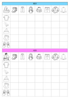 Game Clothes vocabulary