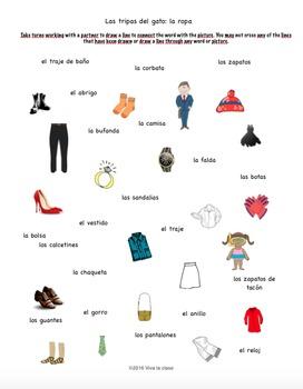 Spanish Game Clothing/La ropa: Las tripas del gato