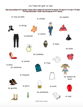 Spanish Game Clothing/La ropa: Las tripas del gato