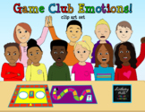 Game Club Emotions Clip Art Set