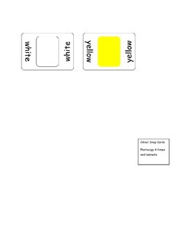 Game - Colour Snap with Words for EAL / EFL / ESL / ELD