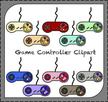 Game Controllers Clipart / Video Game Clipart / Games Clipart
