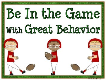 Game Day Behavior Clip Chart