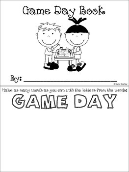 Game Day Fun Book