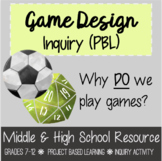 Game Design Inquiry Project Based Learning (PBL)
