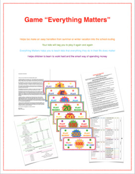 """Game """"Everything Matters"""""""