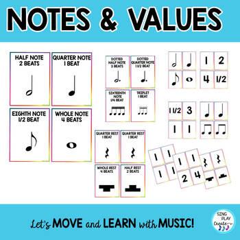 "Music Game ""FLIP IT, SLAP IT, MATCH IT"" Notes, Symbols, Flash Cards"