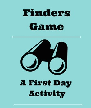 Game For First Days of School - Back To School Icebreaker Activity