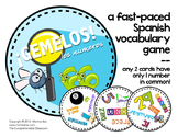 Game: GEMELOS - Los números: A partner vocabulary game in Spanish