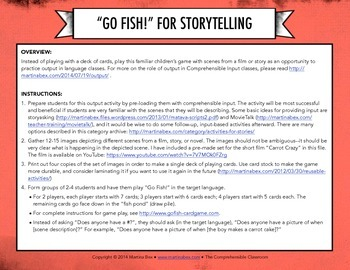 Game: Go fish! to review stories