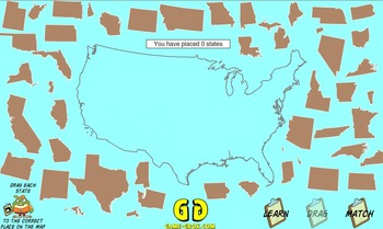 Game-Grok presents: Contiguous United States Geography Puzzle. (Macintosh)