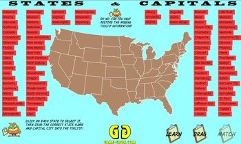 Game-Grok presents: Contiguous United States Geography Puzzle. (Windows Version)