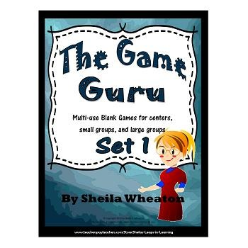 Game Guru #1 - Multi-use blank games for centers, small gr