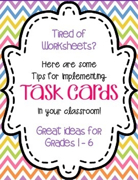 FREE Game Ideas and Tips for Using Task Cards Freebie No More Worksheets!