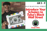 Game Introduction to Tulsa's Black Wall Street with Google Slides and Videos
