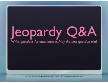 Game: Jeopardy Q&A