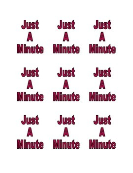 Game - Just a minute