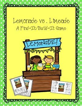 Game: Lemonade vs. Limeade {Find-It, Build-It}