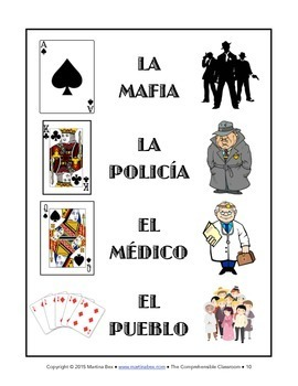 Game: Mafia role-playing game for language classes