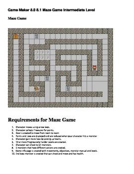 Game Maker 8.0/8.1 Maze Game Instructions Intermediate