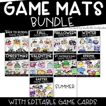 Game Mats Growing Bundle [EDITABLE]