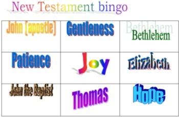 Game: New Testament Bingo cards