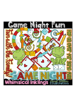Game Night Fun Clipart Collection